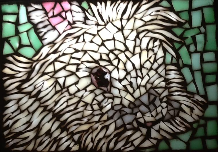 Rabbit Mosaic (with sun light shinning through) 5x7